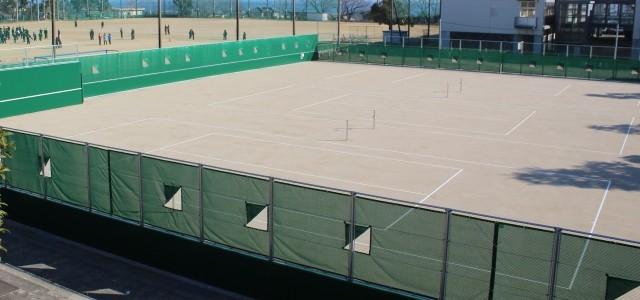 テニスコート改修工事終了