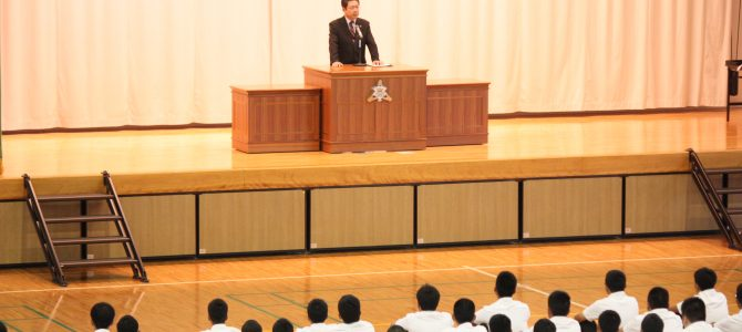 2学期始業式・学級役員任命式・伝達表彰式